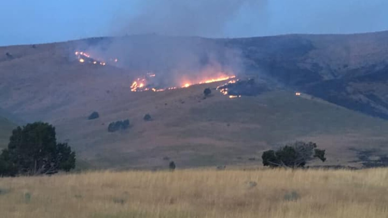 Crews battling a pair of wildfires in Juab County, west of Nephi