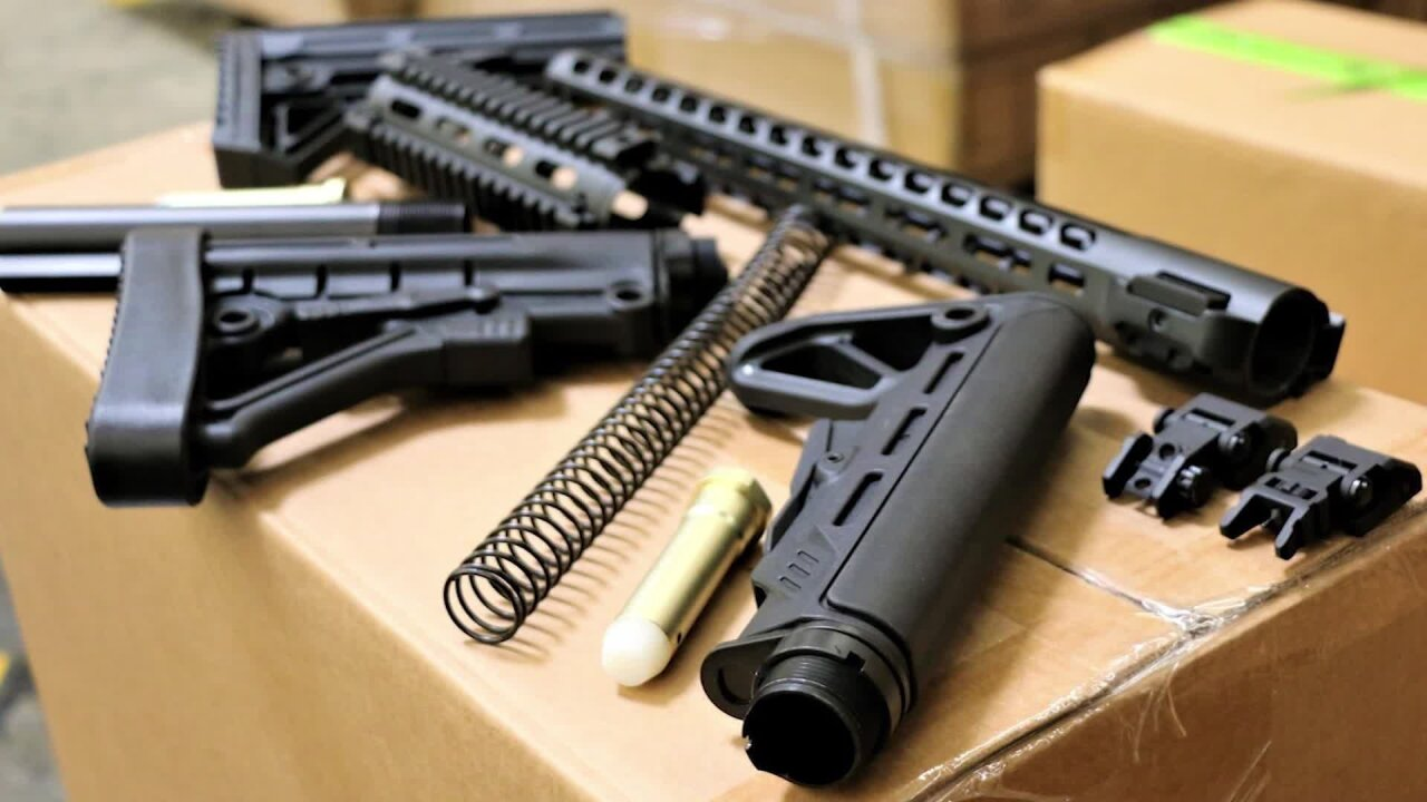 US seizes 52,000 gun parts illegally imported from China to California
