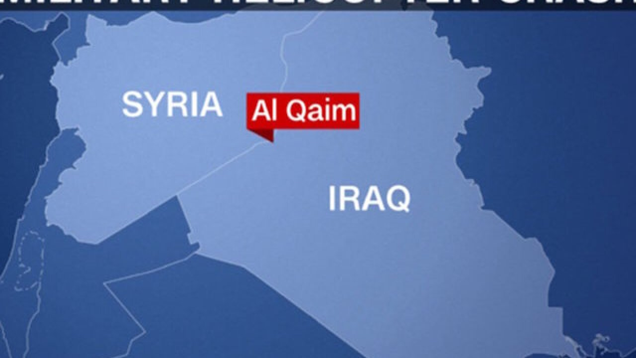 7 US service members killed in Iraq helicopter crash