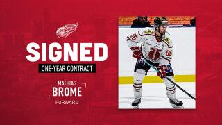 Red Wings sign Swedish hockey player Mathias Brome to one-year deal