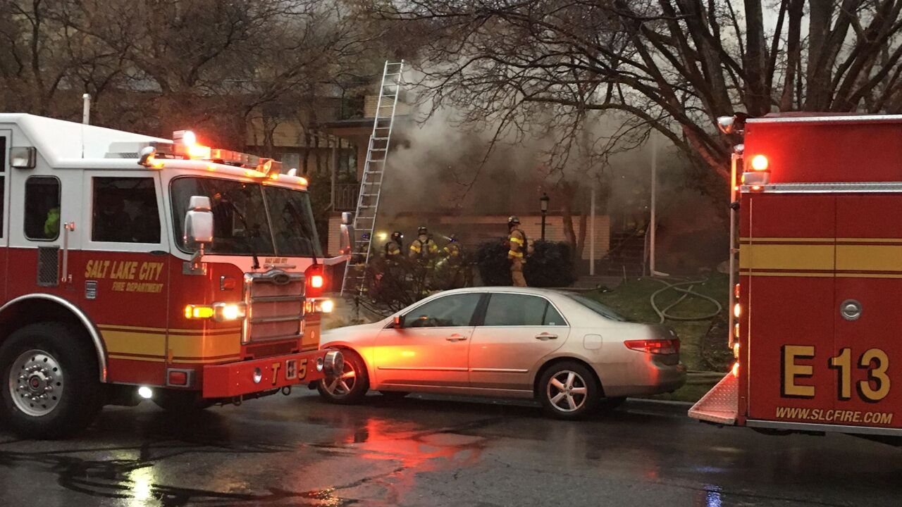 Three suffer minor injuries in two-alarm fire in Salt Lake City