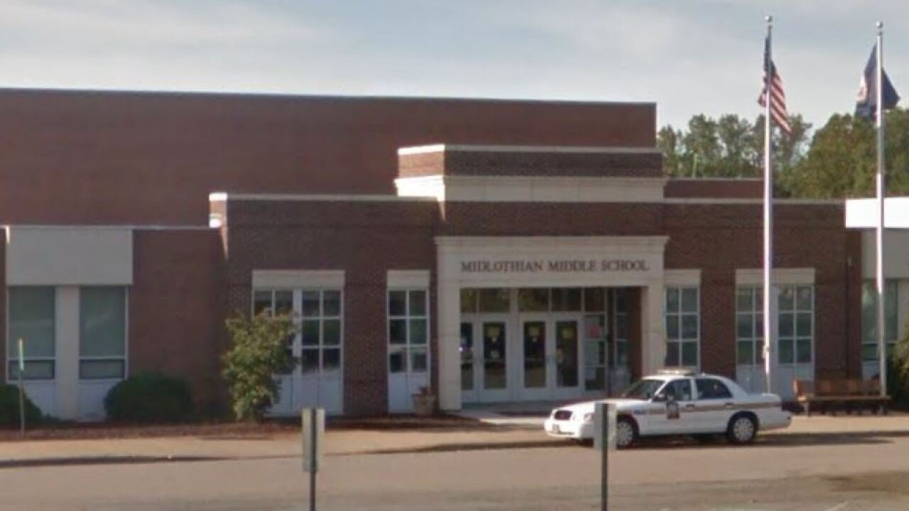 Midlothian Middle School closed Wednesday after Legionella bacteria found
