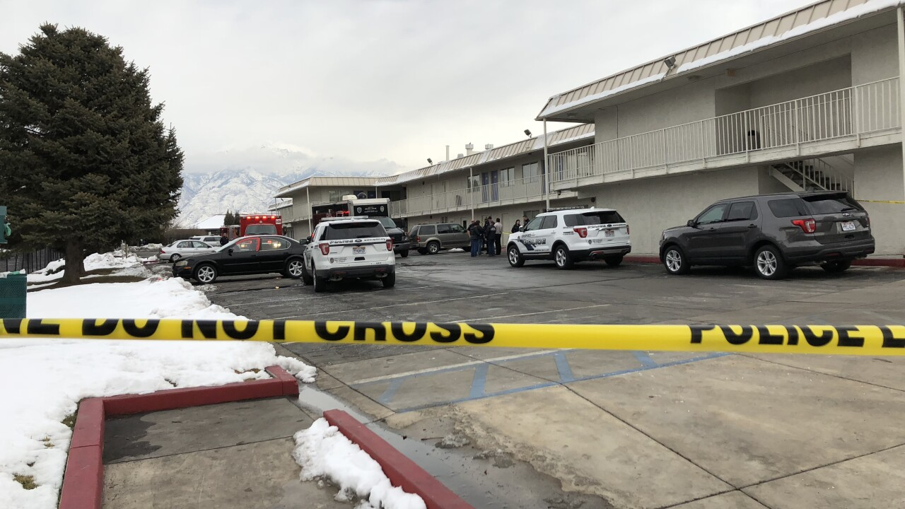 Police on scene of suspicious death of infant in Midvale motel