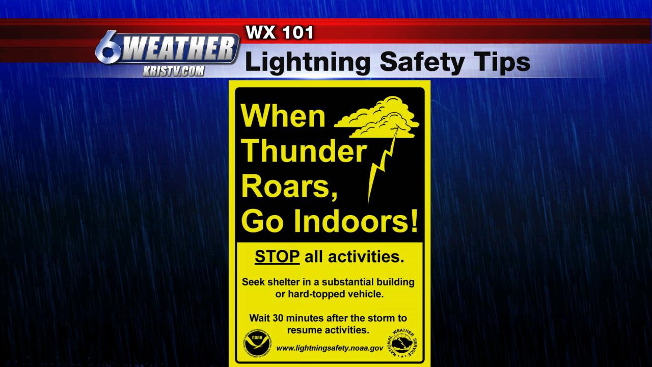 6WEATHER Lightning Safety Tips