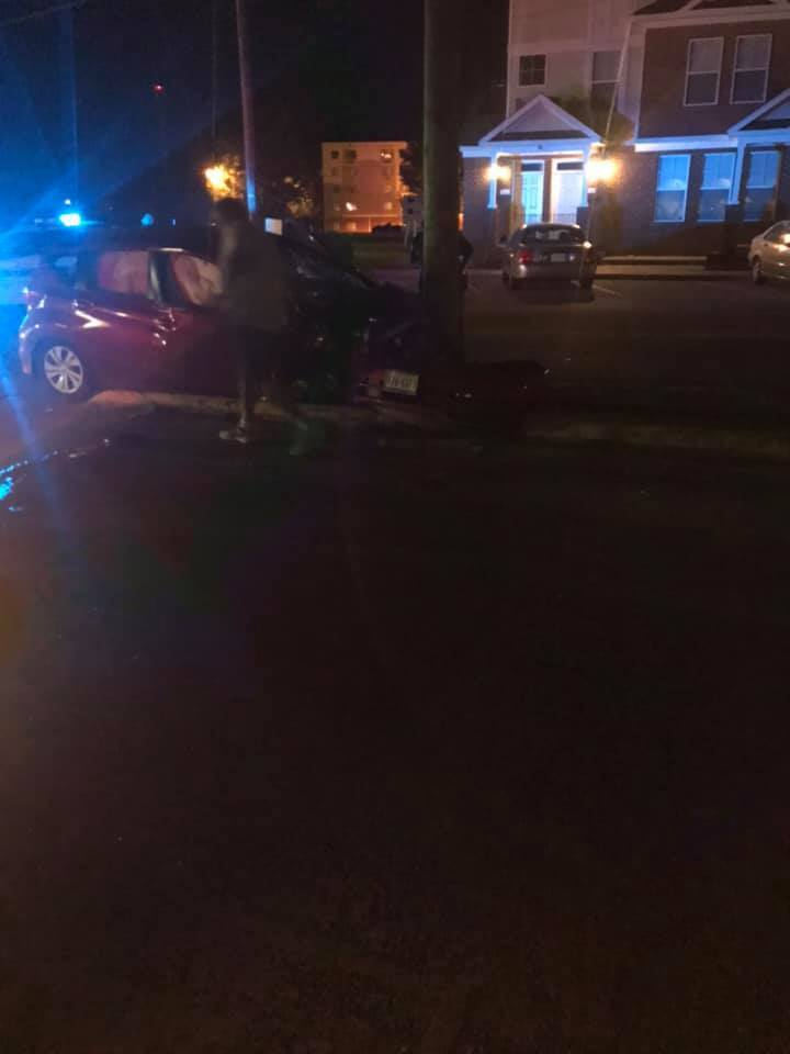 Photos: Police investigating after officer involved in Suffolk crash