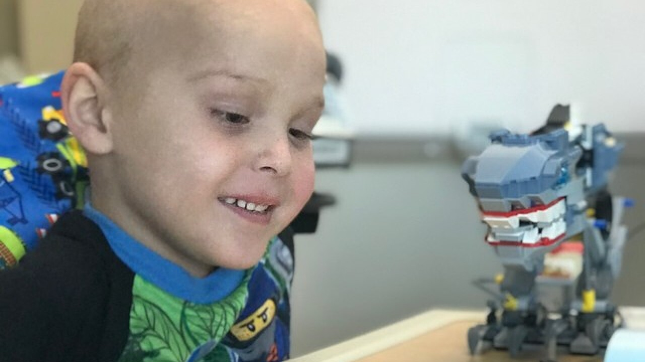 6-Year-Old leukemia patient uses legos to pass time in the hospital