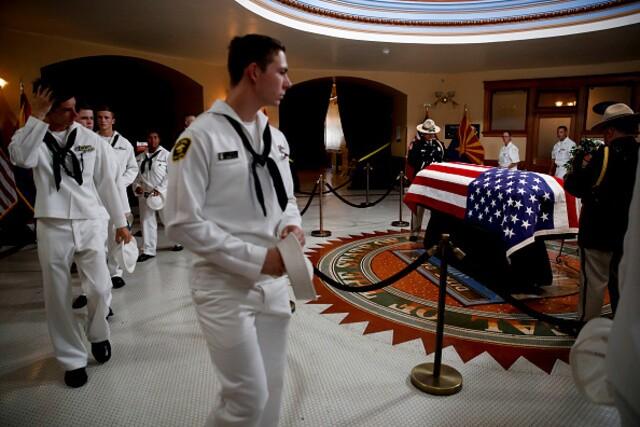 John McCain lies in state at Arizona Capitol building