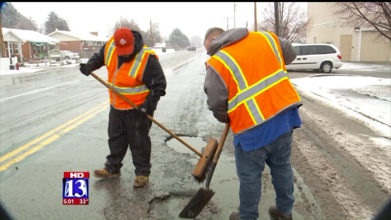 Meet the pothole patrol repairing the road in Orem