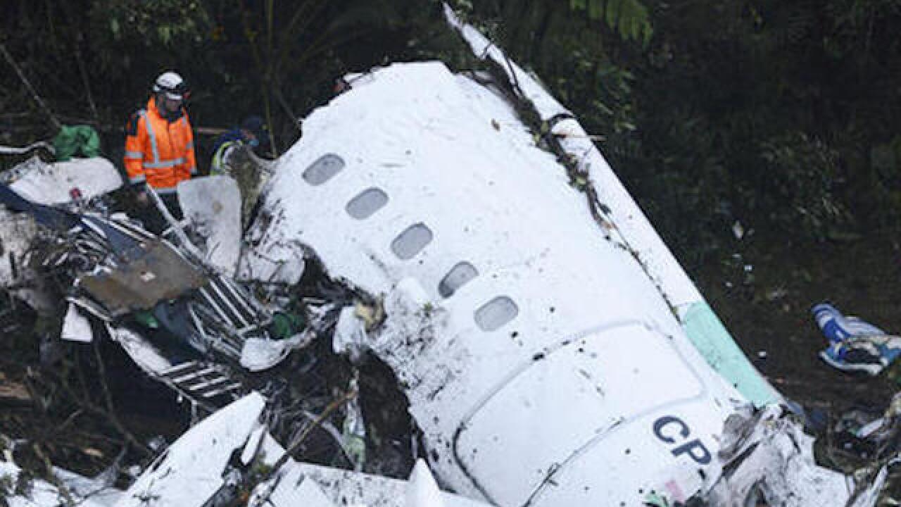 Colombia authorities respond to plane crash