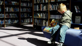school library children student students