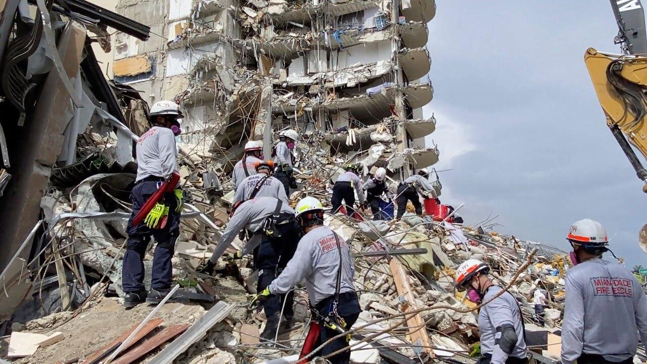 Surfside building collapse on June 25, 2021