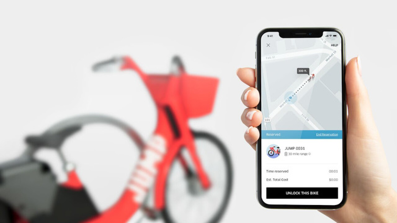 Uber launches its first dockless electric bike share option in Denver
