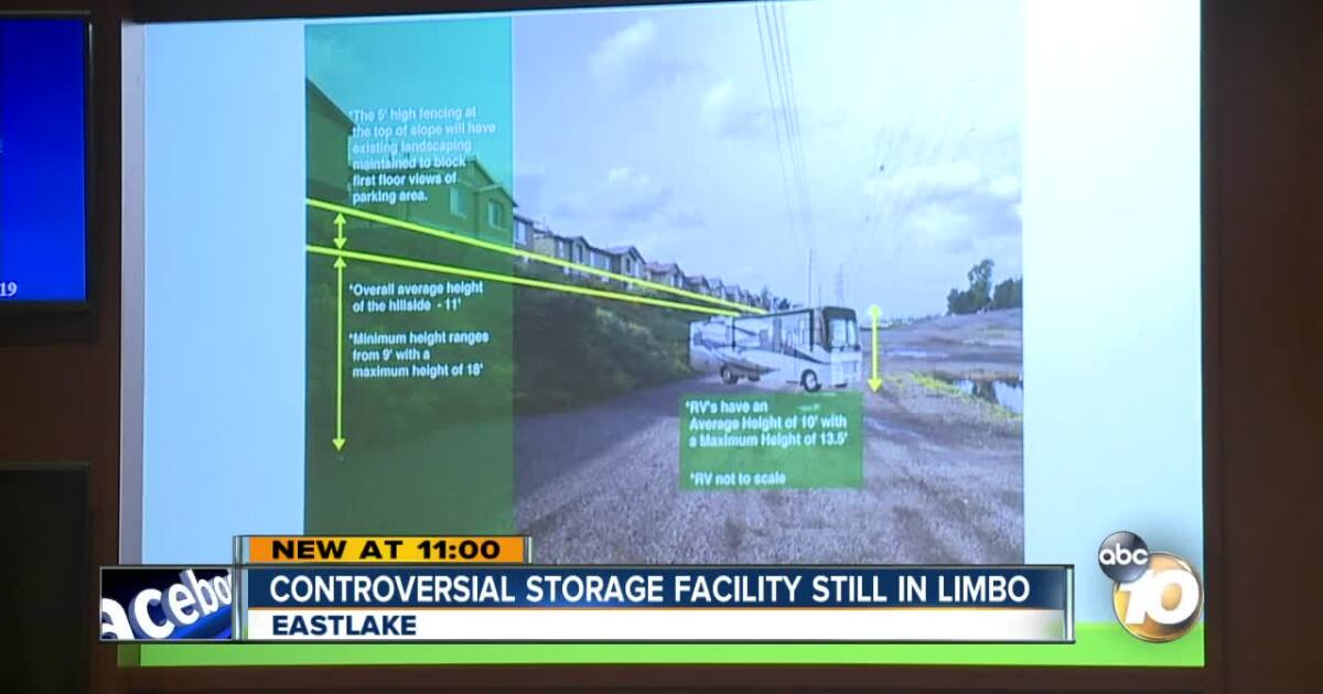 Chula Vista recreational storage facility remains in limbo