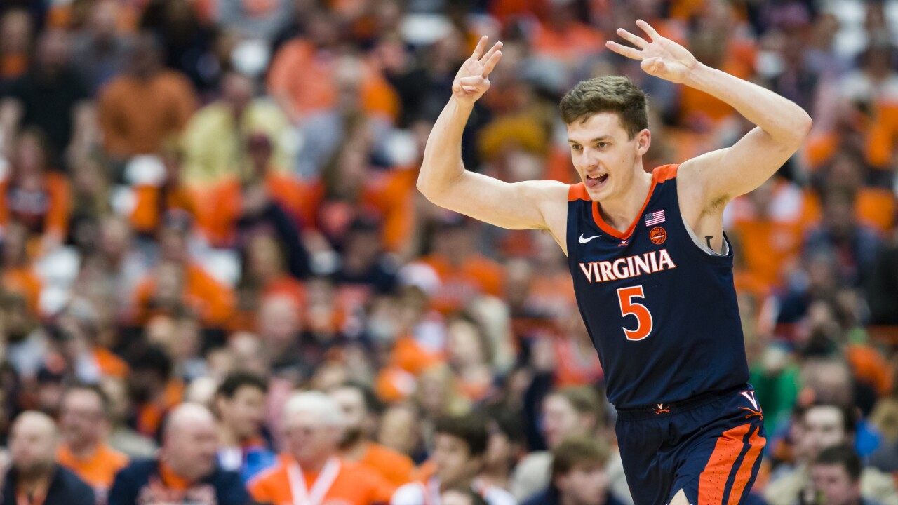 UVA's three jamboree: 'Hoos tie school record with 18 three-pointers in win at Syracuse