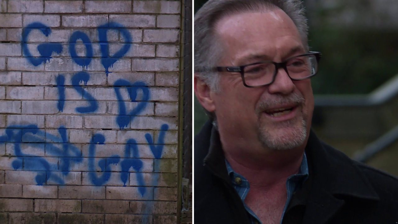 Pastor responds to message spray painted on church: 'To tell you the truth, I'm excited about it'