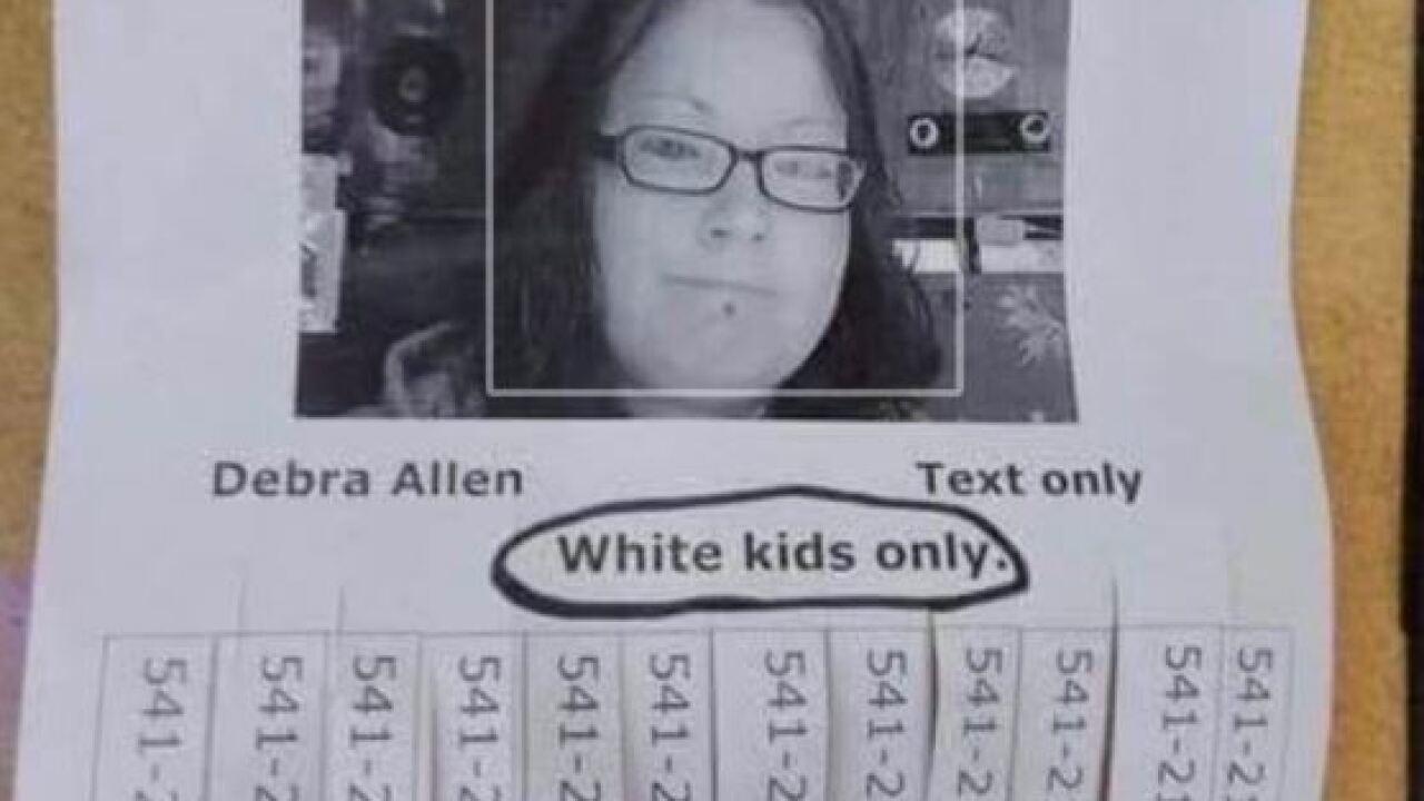 racist babysitting flier.JPG