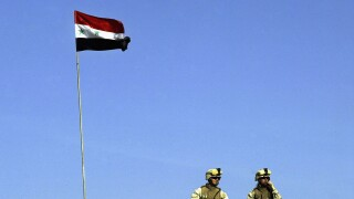 iraq american troops iraq flag