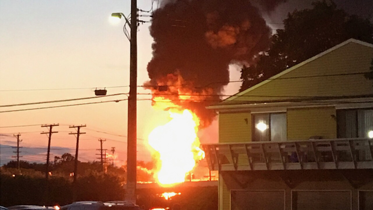 Explosion, fire reported at DTE substation