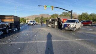 Payson plumbing truck crash
