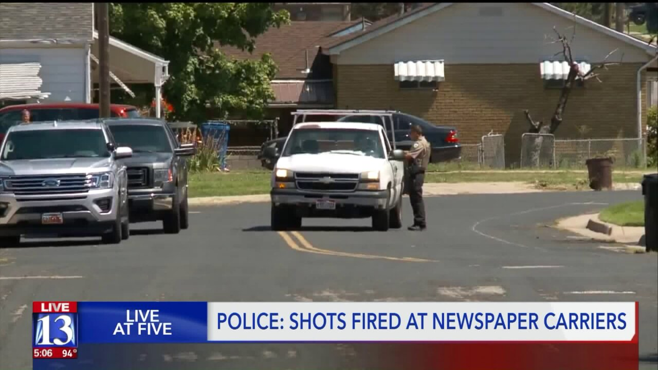 Police: Man fired shots at newspaper carriers in WeberCounty