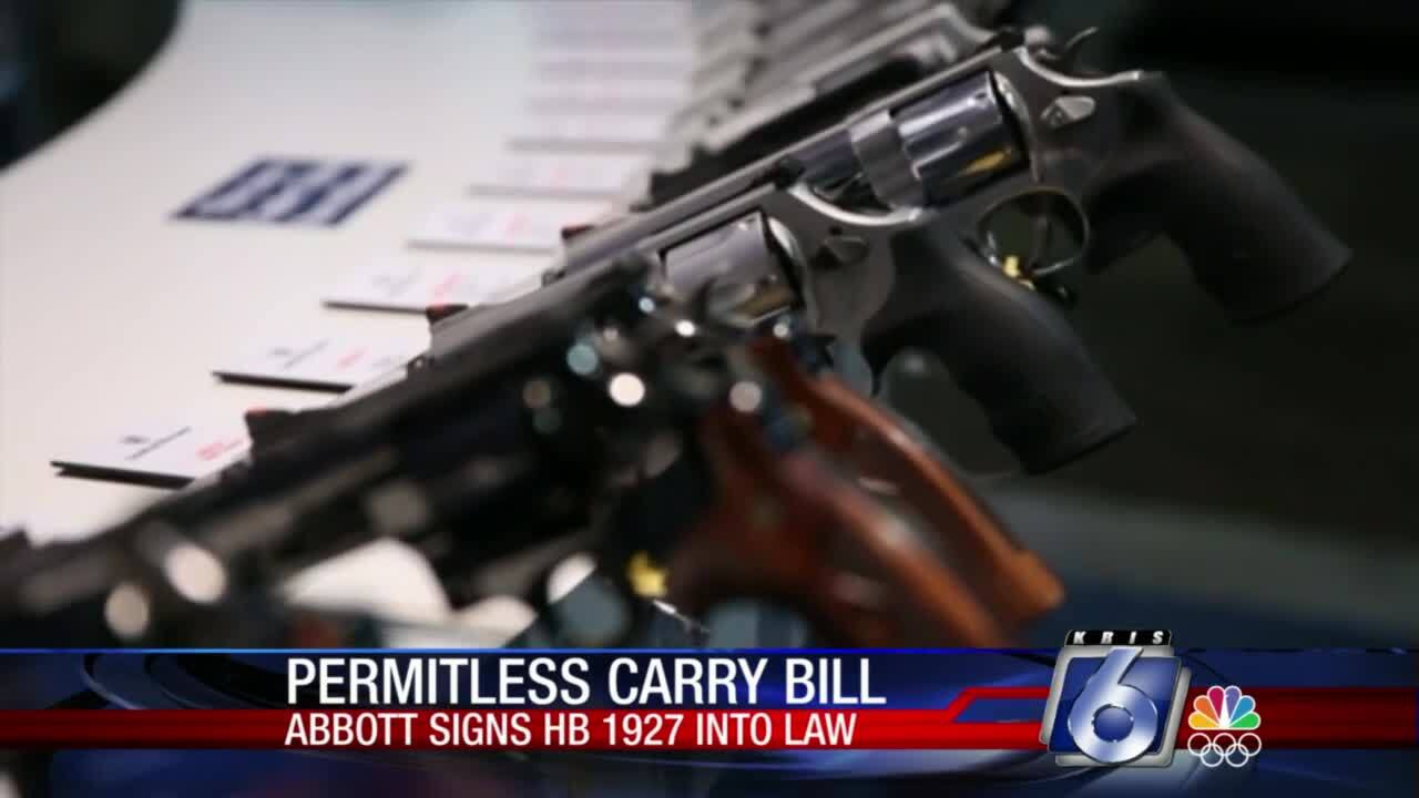 """Gov. Greg Abbott has signed a """"Constitutional carry"""" law for Texas"""