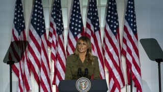 Melania Trump speaks from Rose Garden in August 2020