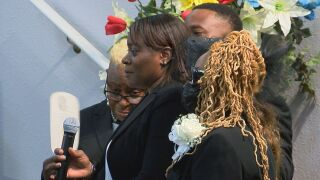 Williams Family at funeral