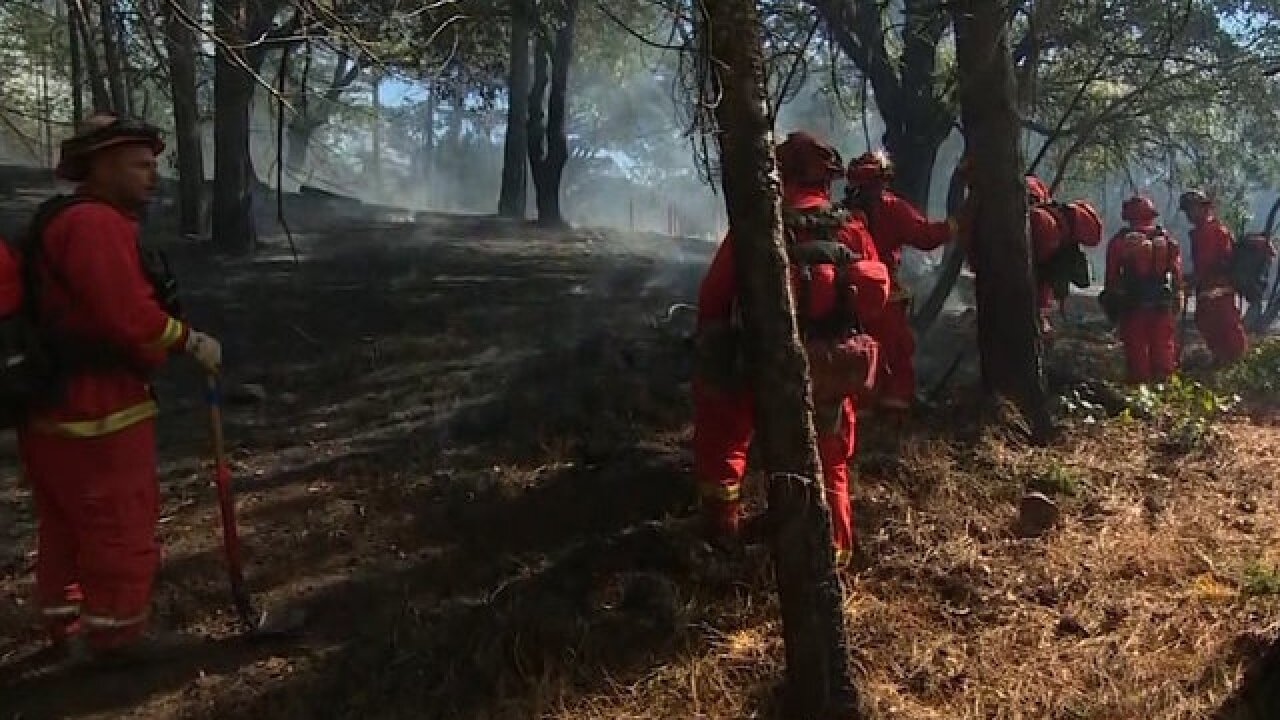 California prisoners join crews, help battle wildfires