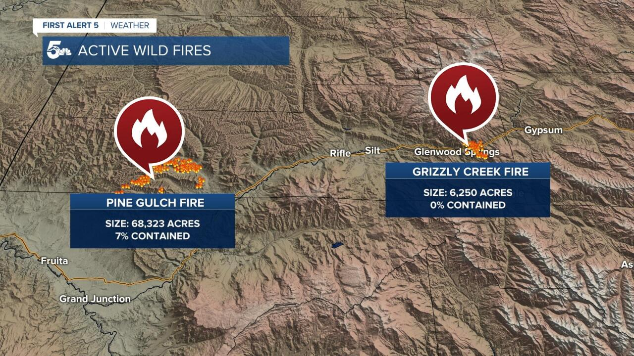 Pine Gulch and Grizzle Creek Fire Update