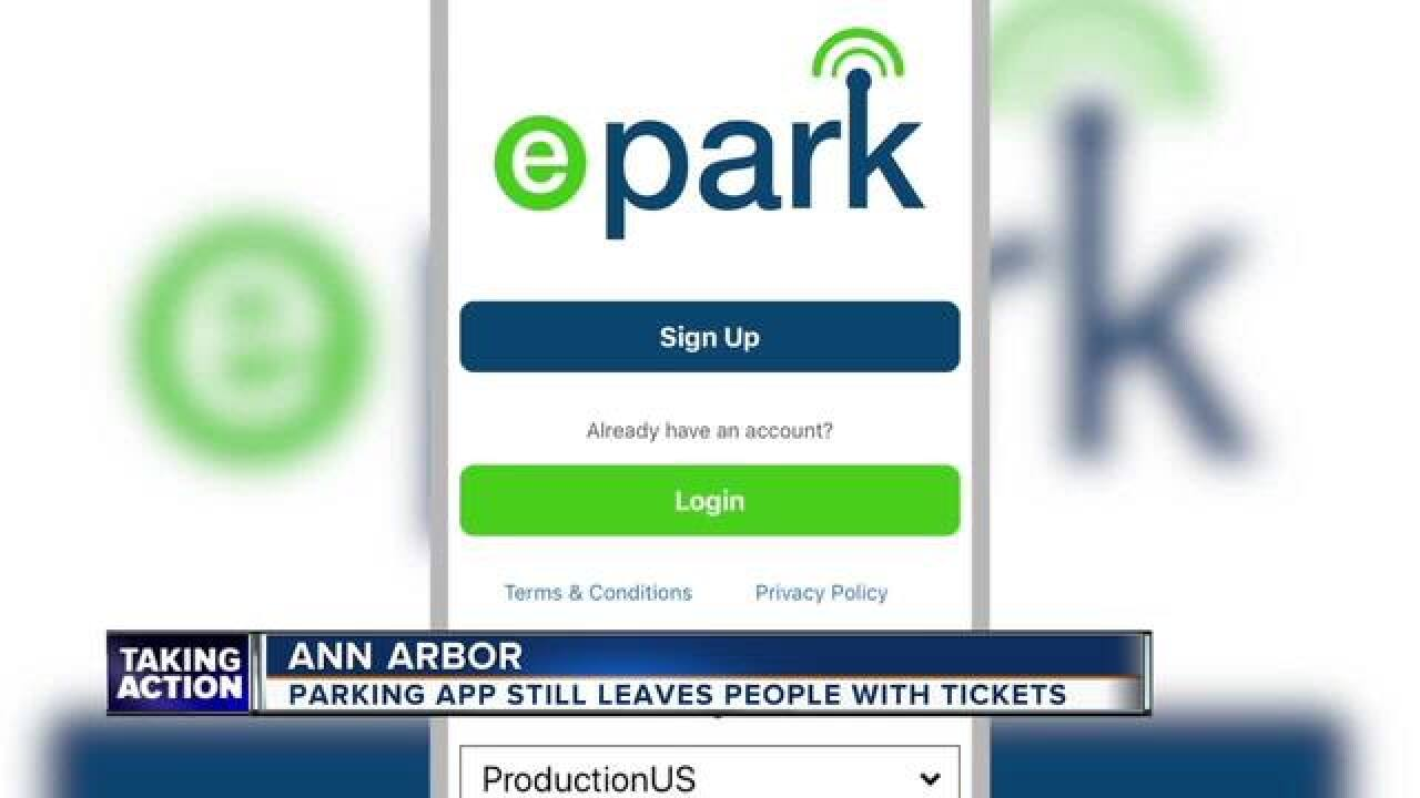 Parking App causing problems for some