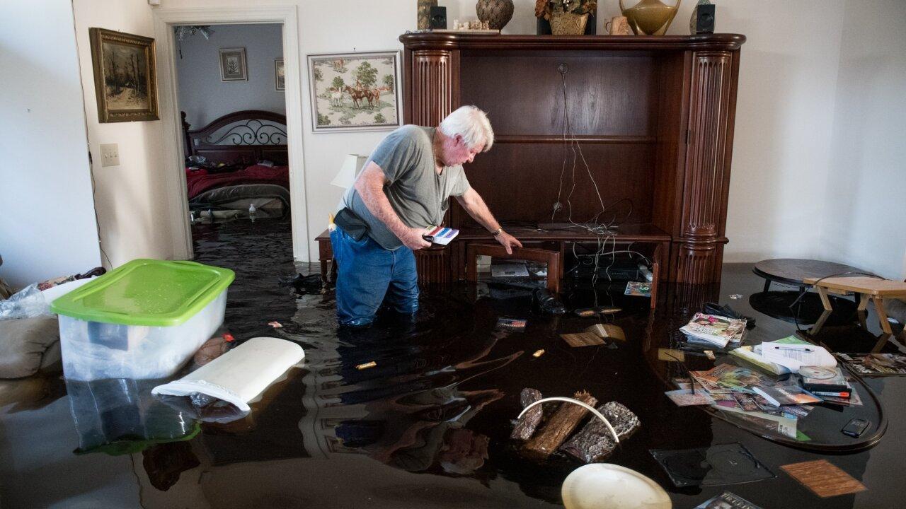 Flooding is sending unheard amounts of water through theCarolinas