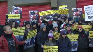 Carriage horse collapse, death protest