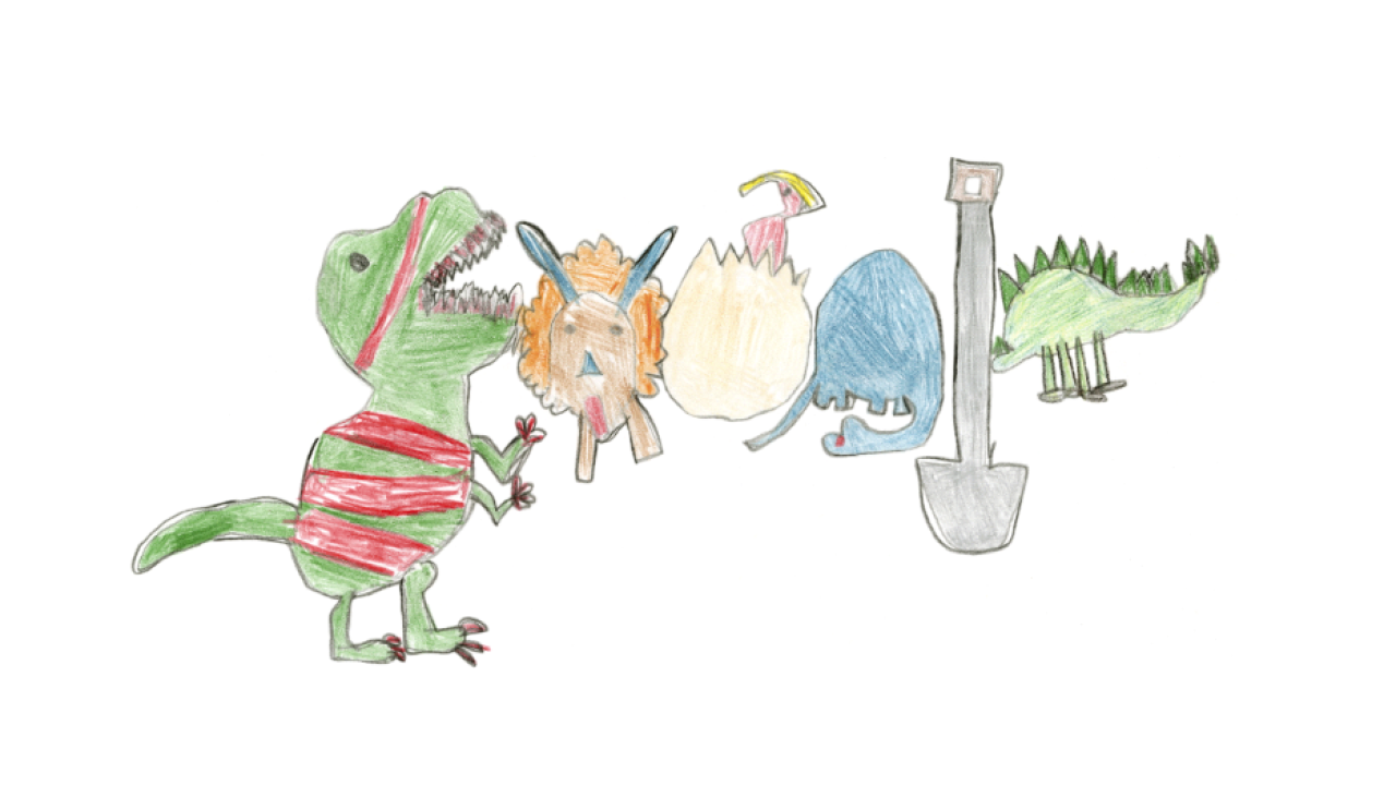 Virginia girl wins Doodle 4 Google contest with dinosaurs drawing