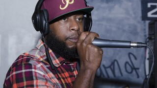 Talib Kweli performs at Revel OTR