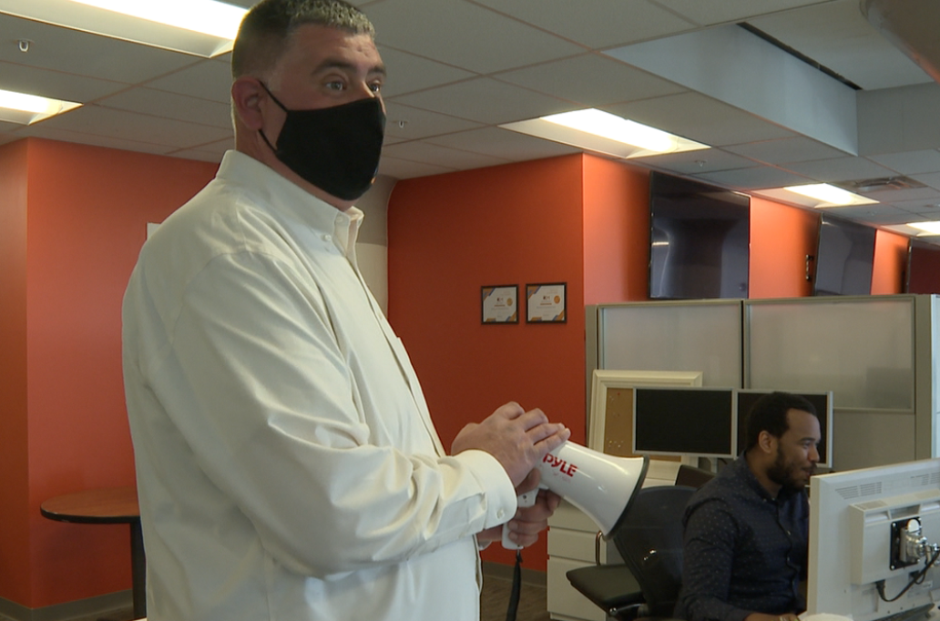 Hobson tries to keep things fun to keep employees in the office
