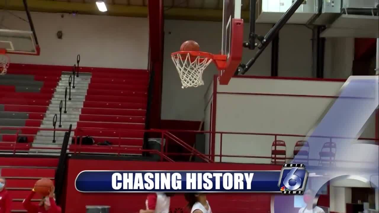 The Robstown Lady Pickers will be gunning for the first district title in school history tonight