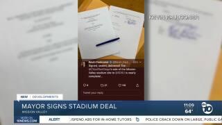 stadium paperwork