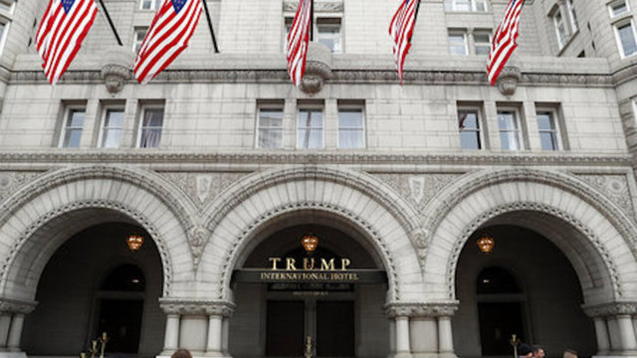 Expletive projected on Trump hotel after reportedly using expletive in meeting with lawmakers