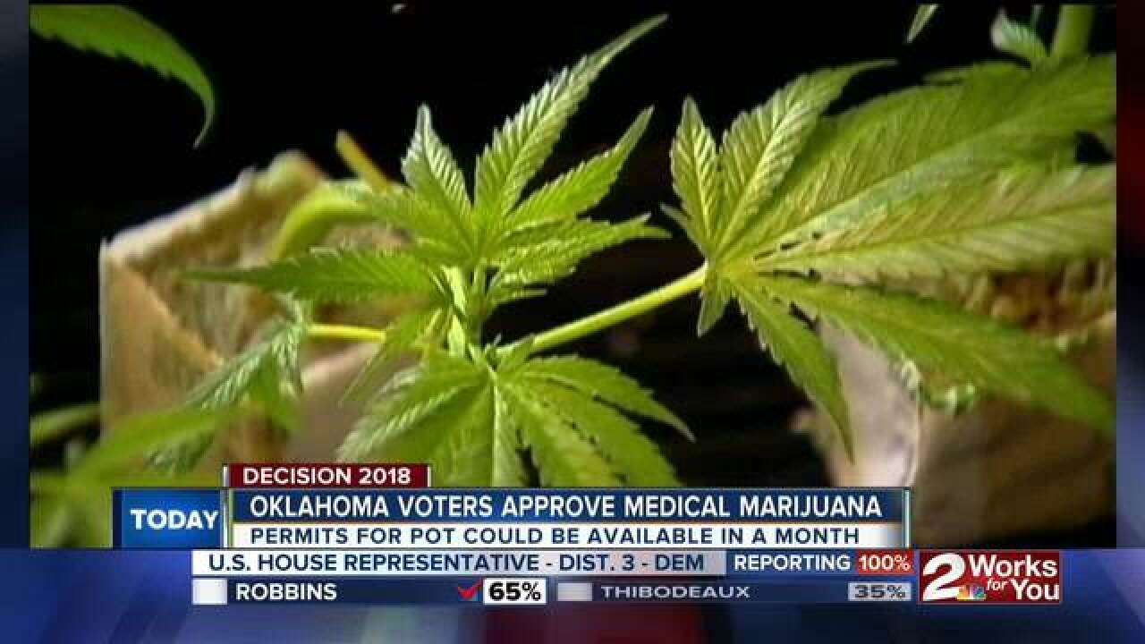 OK voters approve legal medical marijuana