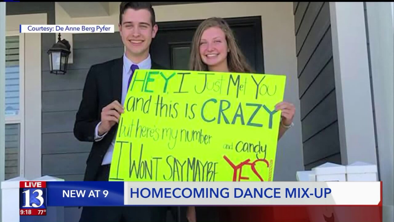 Homecoming proposal takes unexpected and cute turn after wind blows sign to wrong home