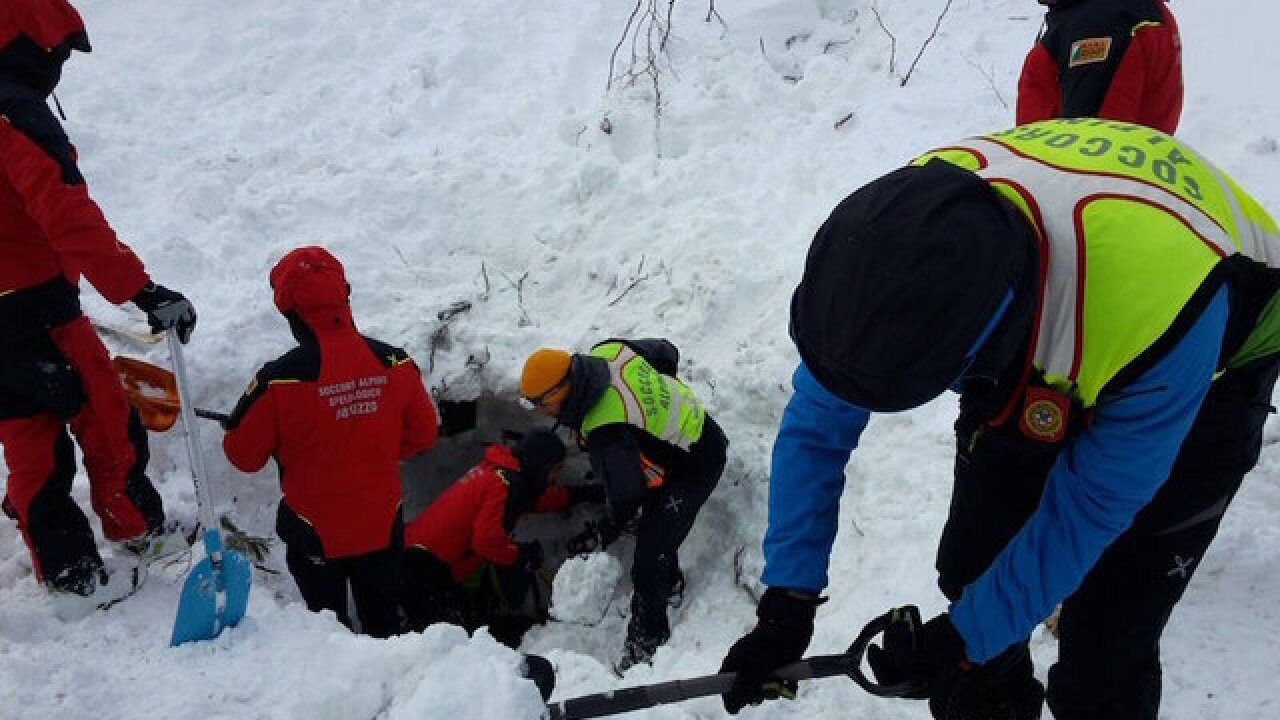 Italy avalanche: 6 people found alive in buried hotel
