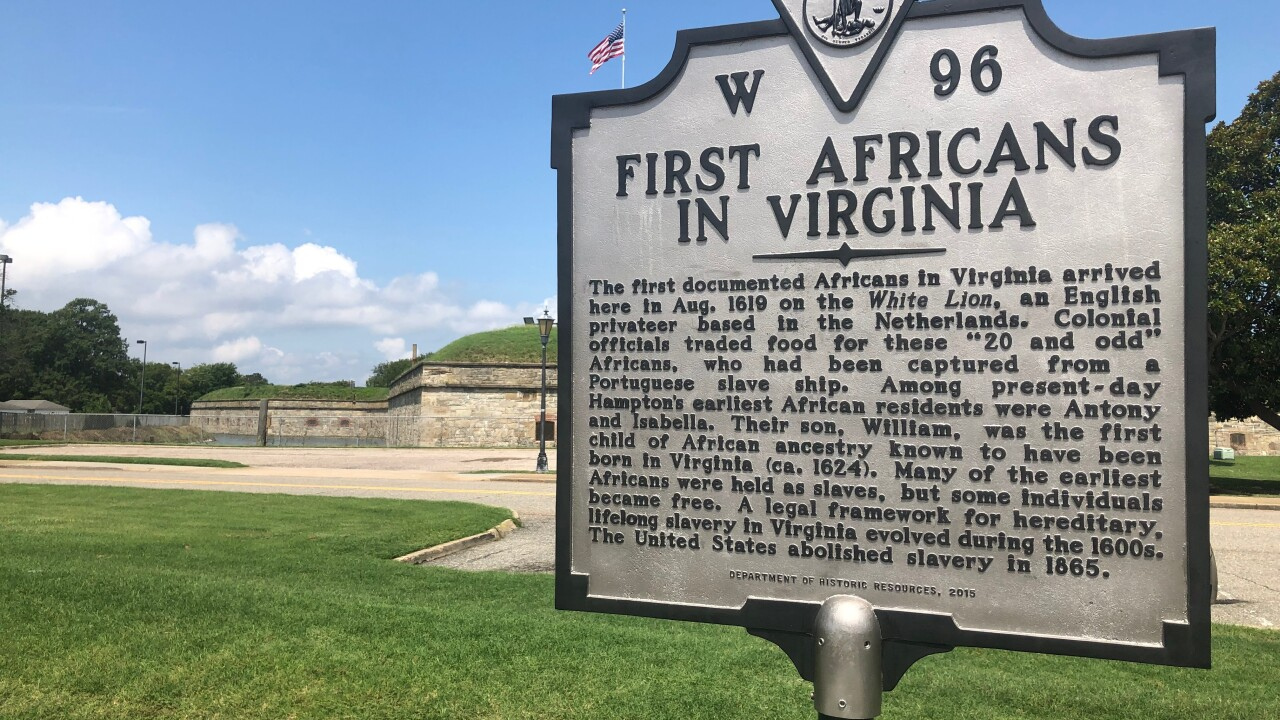 Hampton commemorates 400th Anniversary of first enslaved Africans brought to colonialAmerica