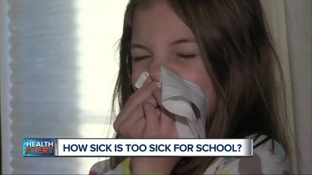 How sick is too sick to send a child to school?