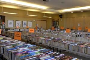 Bozeman Public Library prepares for used book sale.