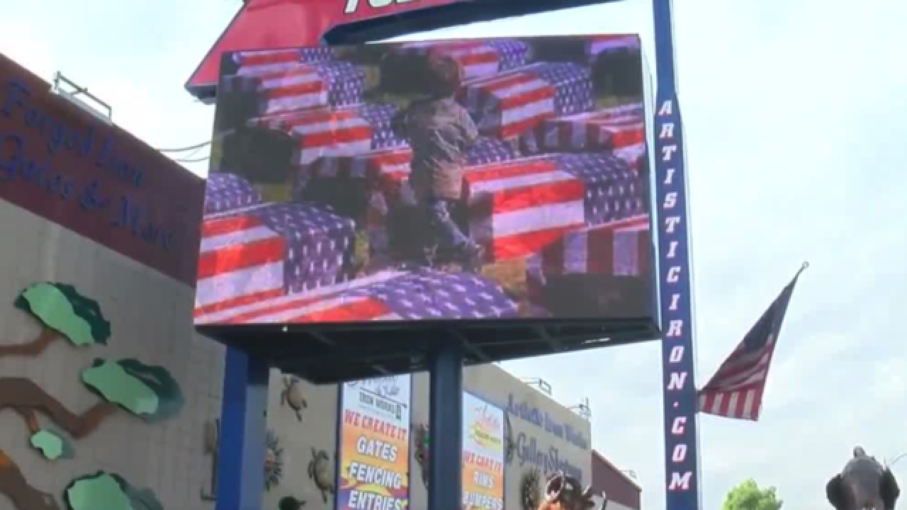 Take a knee billboard in downtown Las Vegas stirs emotions