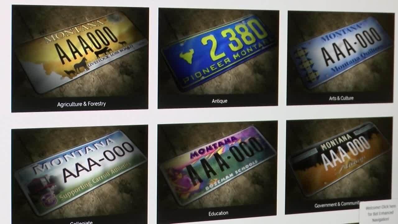 Dozens of Montana non-profit specialty license plate designs revoked