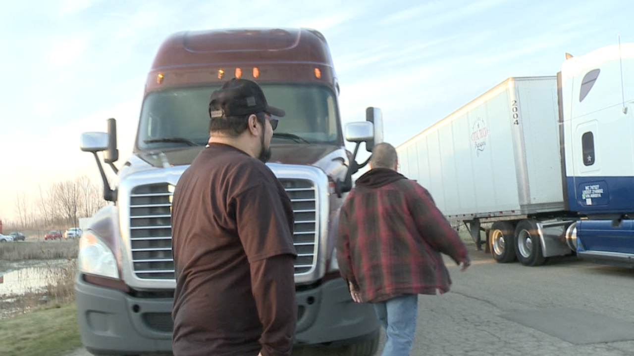 Truckers prepare for another run.