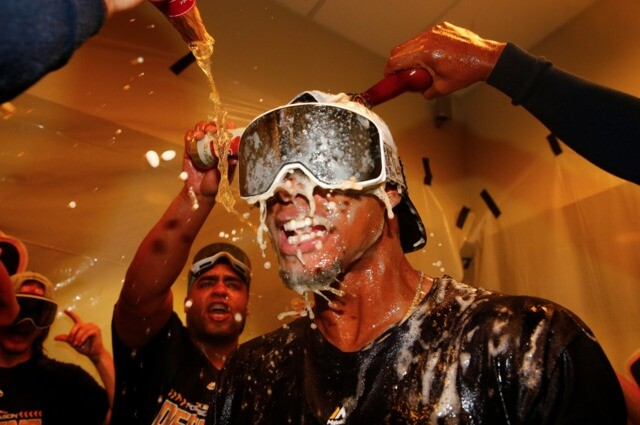 Brewers celebrate first postseason clinch in seven years