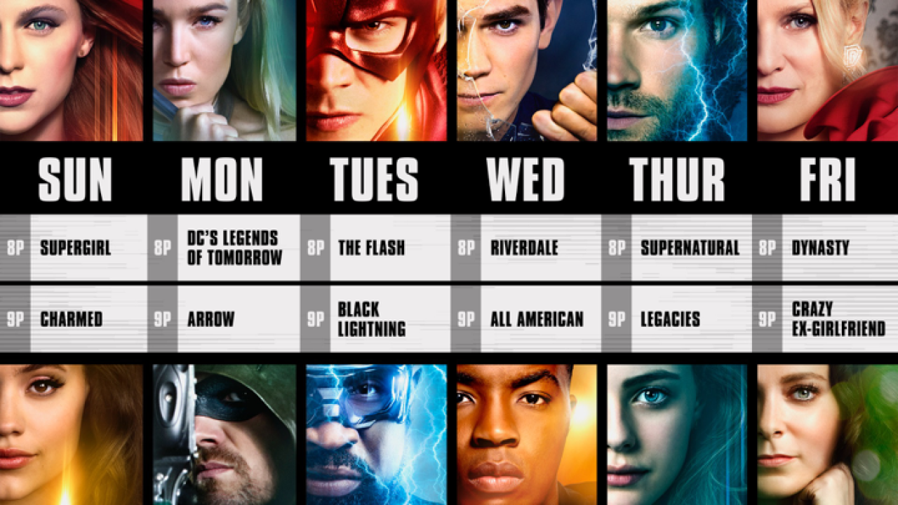 The CW Network announces new six-night primetime schedule for 2018-19