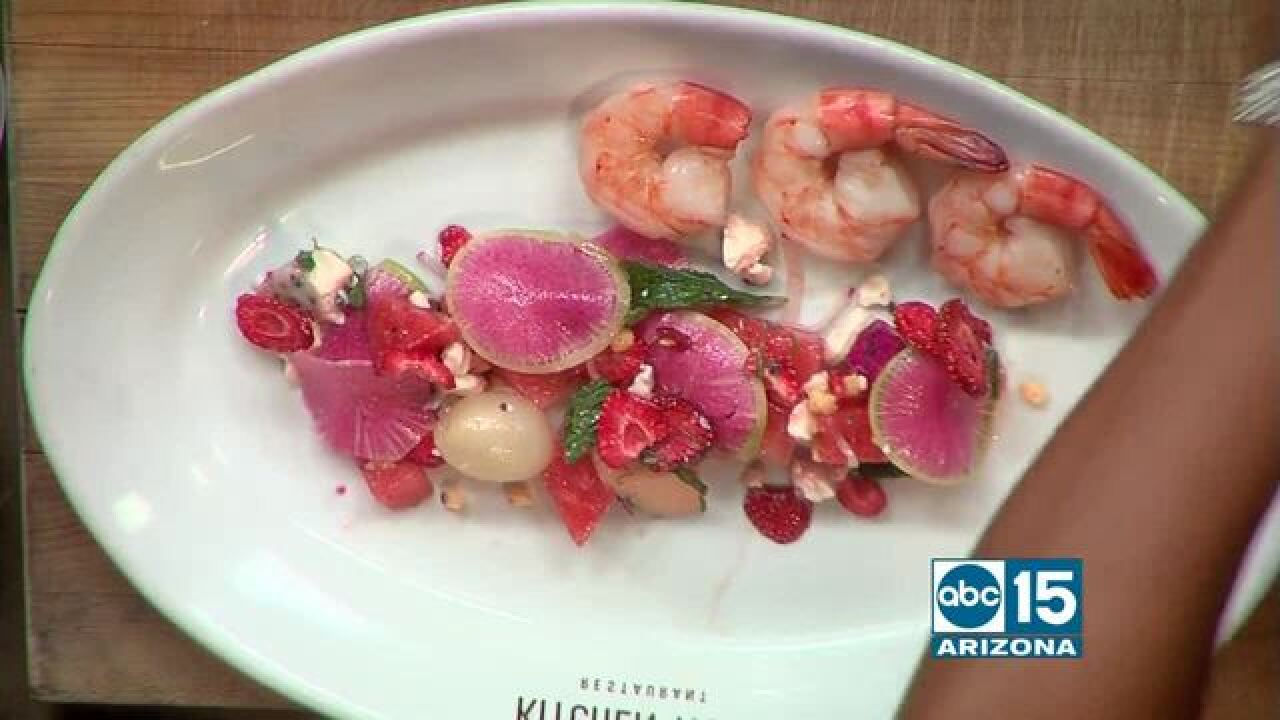Summer sweets and seafood